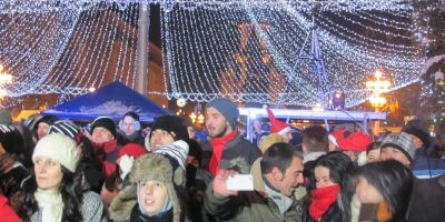 FOTO VIDEO Revelion 2015 in Romania. Care oras a avut cel mai spectaculos foc de artificii in mijlocul gerului siberian