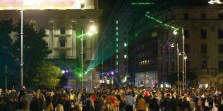 FOTO Festivalul Spotlight s-a incheiat. Cum a aratat Calea Victoriei in ultima noapte a evenimentului