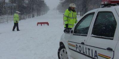 Cod portocaliu de ninsori si viscol: starea drumurilor. Autostrada Soarelui, inchisa