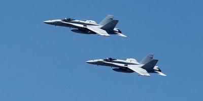 Doua avioane de lupta F-16 s-au ciocnit in apropierea tarmului Carolinei de Nord