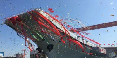 China isi dezvolta marina militara: a lansat la apa cel de-al doilea portavion al sau