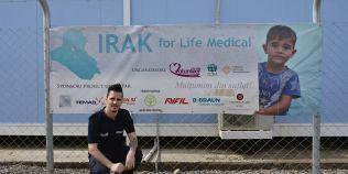 VIDEO Misiune indeplinita de un voluntar roman pentru refugiatii din Irak.