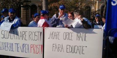 Sindicalistii din invatamant picheteaza Ministerul Muncii incepand de astazi