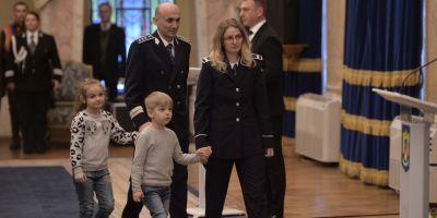 Moment tulburator la Ministerul de Interne pentru sotia si copiii politistului ucis pe peronul garii din Suceava