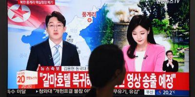 Coreea de Nord si-a distrus instalatia de testare nucleara, intr-o serie de explozii